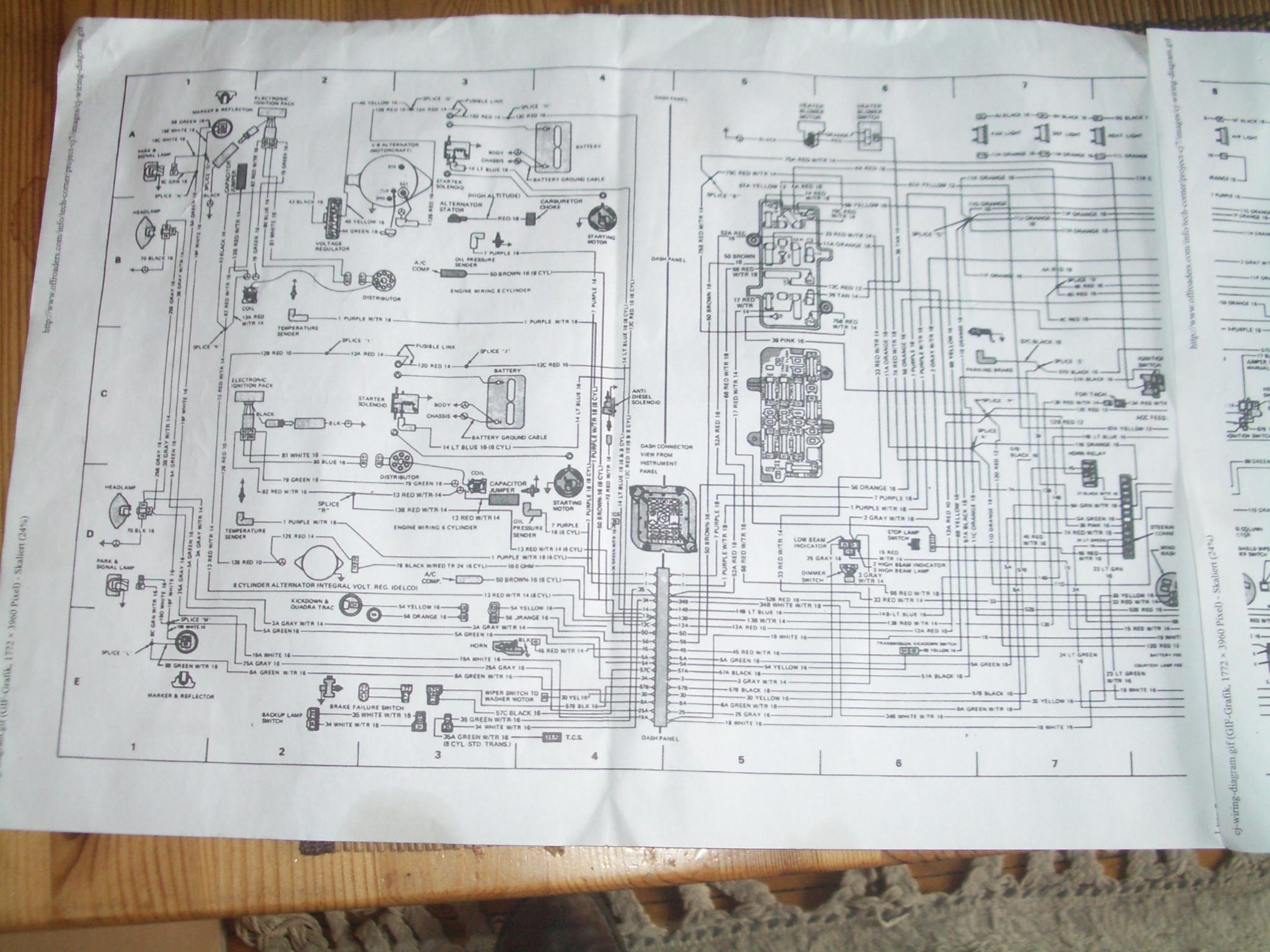 Schaltplan cj 7